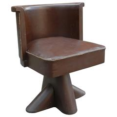 Original Modernist Art Deco Armchair, circa 1920-1930