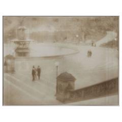"""Piazza"" Vintage Pictorialist Photograph"