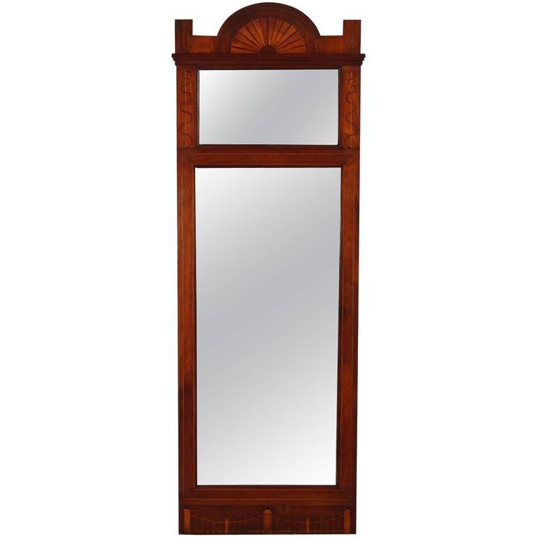 Biedermeier Mahogany Pier Mirror