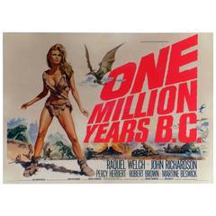 """One Million Years B.C."" Film Poster, 1966"