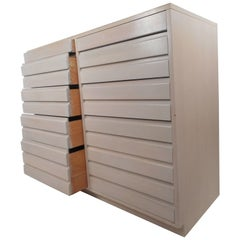 Large Mid-Century Modern Ten Drawer Dresser by Sligh
