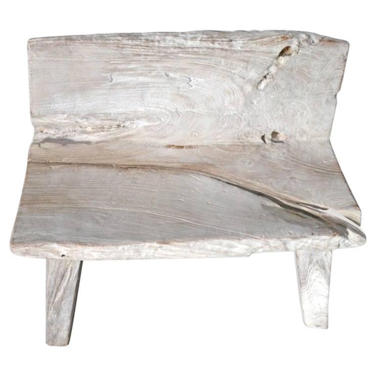 Andrianna Shamaris St. Barts Teak Wood Bench For Sale At