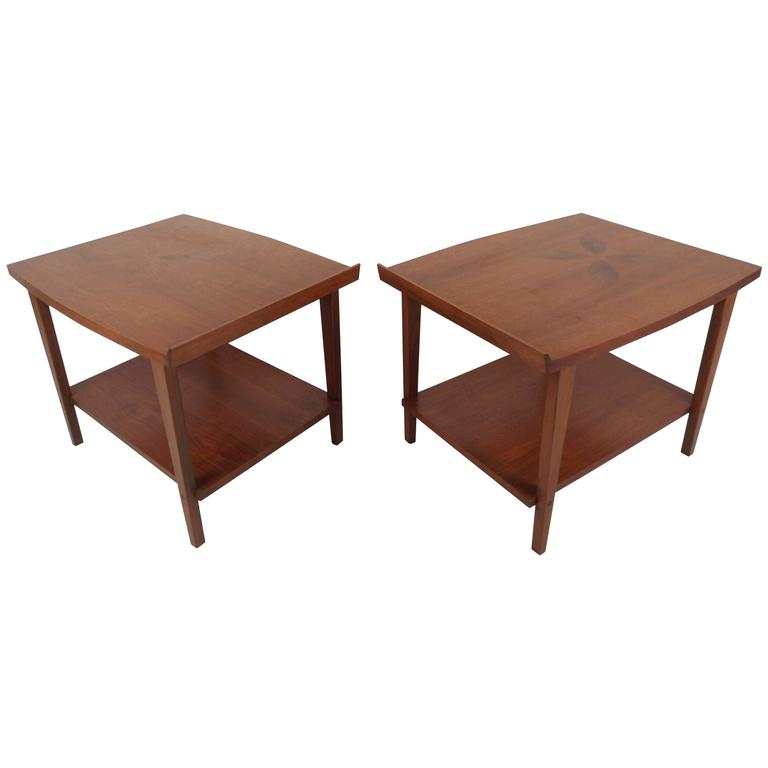 Mid Century Modern End Tables With Rosewood Inlays By Lane Furniture For Sale At 1stdibs
