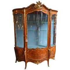 19th Century French Vitrine Gilt Bronze