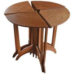 Andrianna Shamaris Teak Wood Side Table