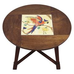 1920s California Tile Table by Taylor with Bird Motif