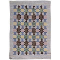 Vintage Swedish Flat-Weave Rug by Judith Johansson
