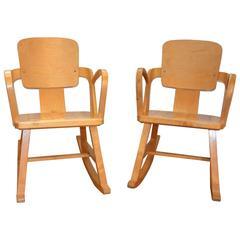 Rocking Chair Pair Aaslid Stolefabrik Norway, 1950s