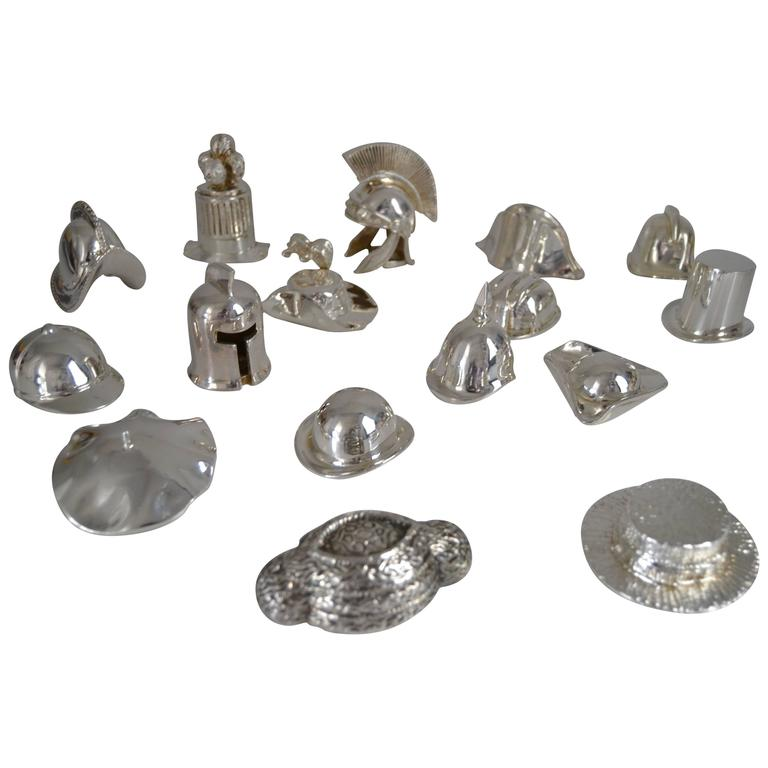Collection of Hats in Silvered Bronze