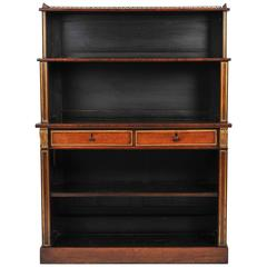 Regency Rosewood Breakfront Open Bookcase