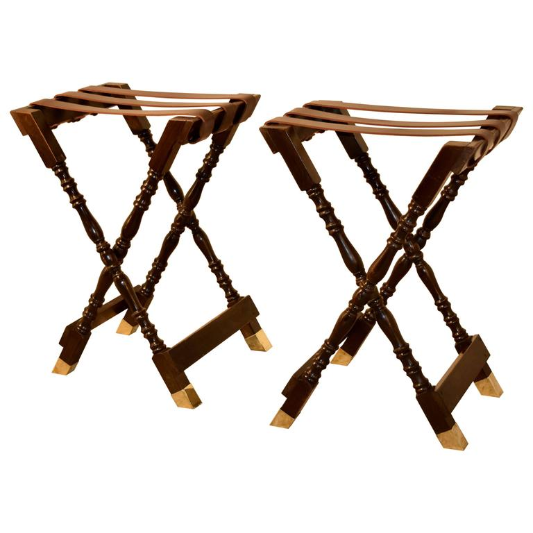 Pair of Mahogany Tray Stands, circa 1920 For Sale
