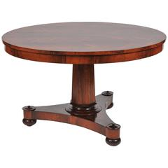 Mid-19th Century Rosewood Circular Tilt-Top Table