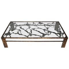 Silas Seandal, Large Signed Bronze Coffee Table
