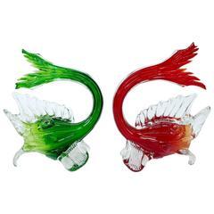 Murano Glass Fighting Fish