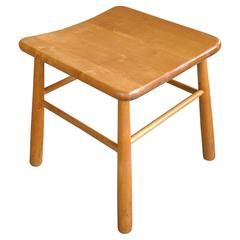 1930s Stool in Beech Attributed to Phillip Arctander