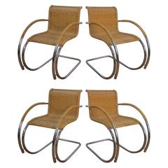 Four Mies van der Rohe MR20 Chairs