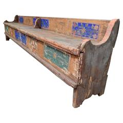 Antique Swedish Polychrome Chest Bench, circa 1800s