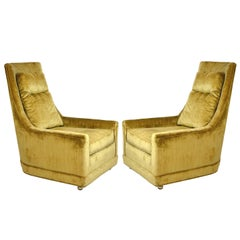 Pair of Hollywood Regency Lounge Chairs