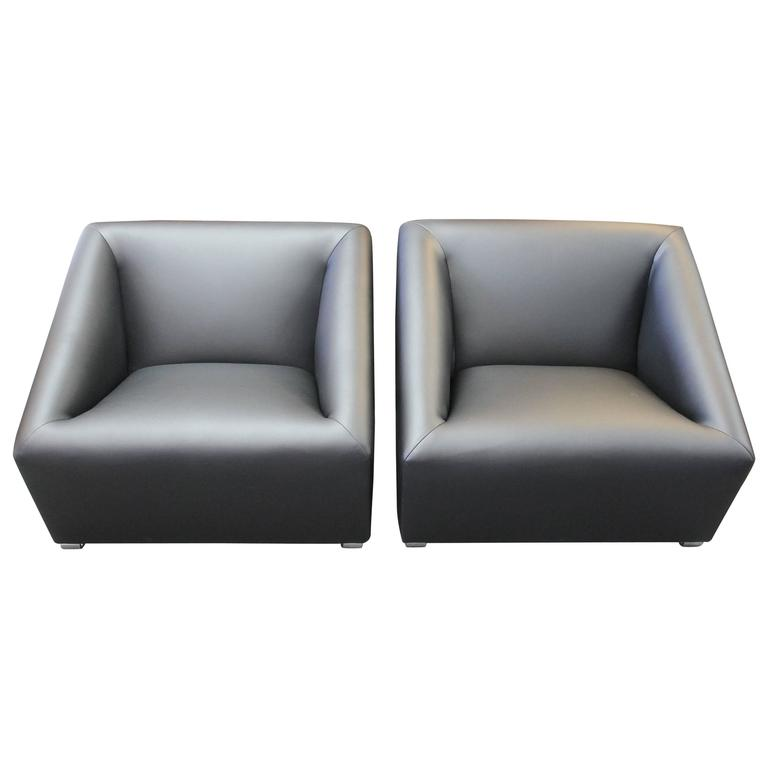 Pair of Lounge Chairs by Bellini