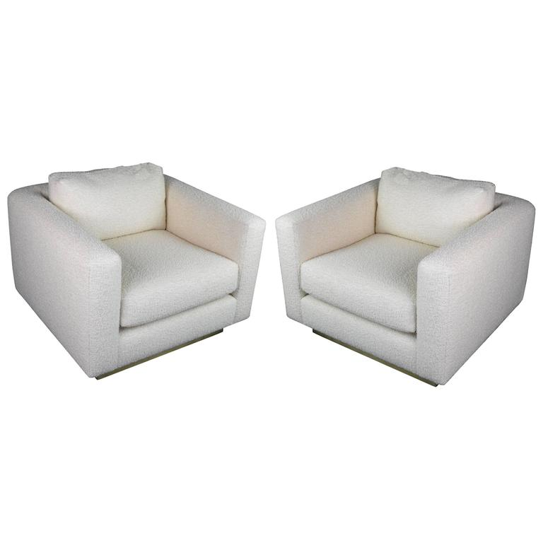 Pair of 1980s Cube Lounge Chairs