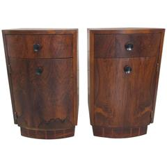 Pair of Gilbert Rohde Rosewood Nightstands