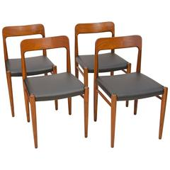 Set of Four Danish Teak Dining Chairs