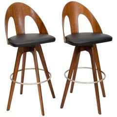 Pair of Swiveling Bar or Counter Stools