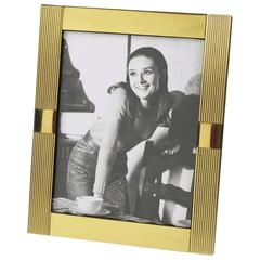 Mid-Century Modernist Brass Picture Photo Frame by Noel B.C., Italy, 1970s