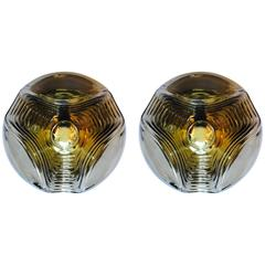 Pair of Peill and Putzler Large Space Age Lights