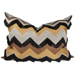 Haute Couture Designers Cushion / Pillow, Silk Chevron