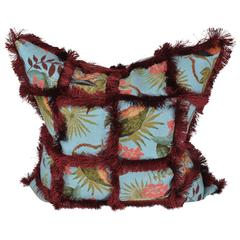 Haute Couture Designers Cushion / Pillow, Toucan Tapestry Patchwork
