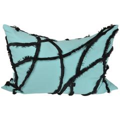 Haute Couture Designers Cushion / Pillow, Turquoise Cotton