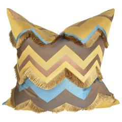 Haute Couture Designers Cushion / Pillow, Silk Chevron Intertwined
