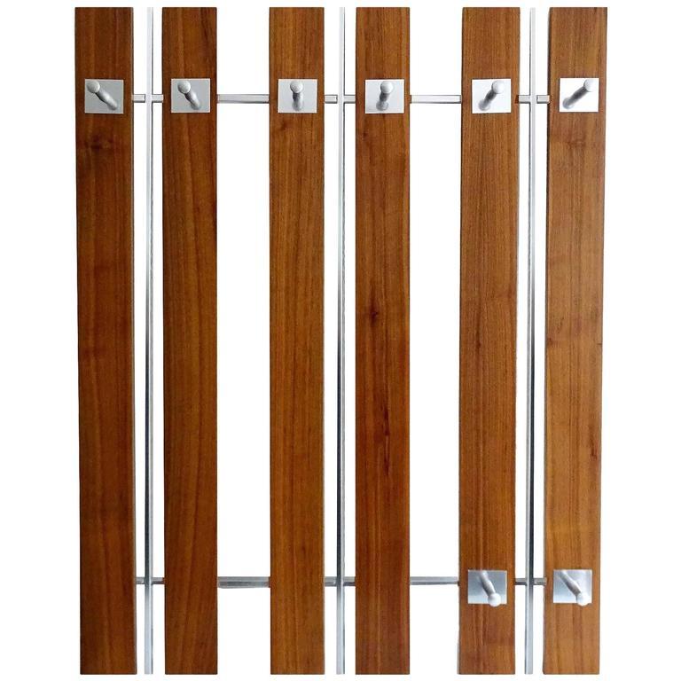Very Large Danish Mid-Century Modern Rosewood Coat Rack, 1960s Modernist Design