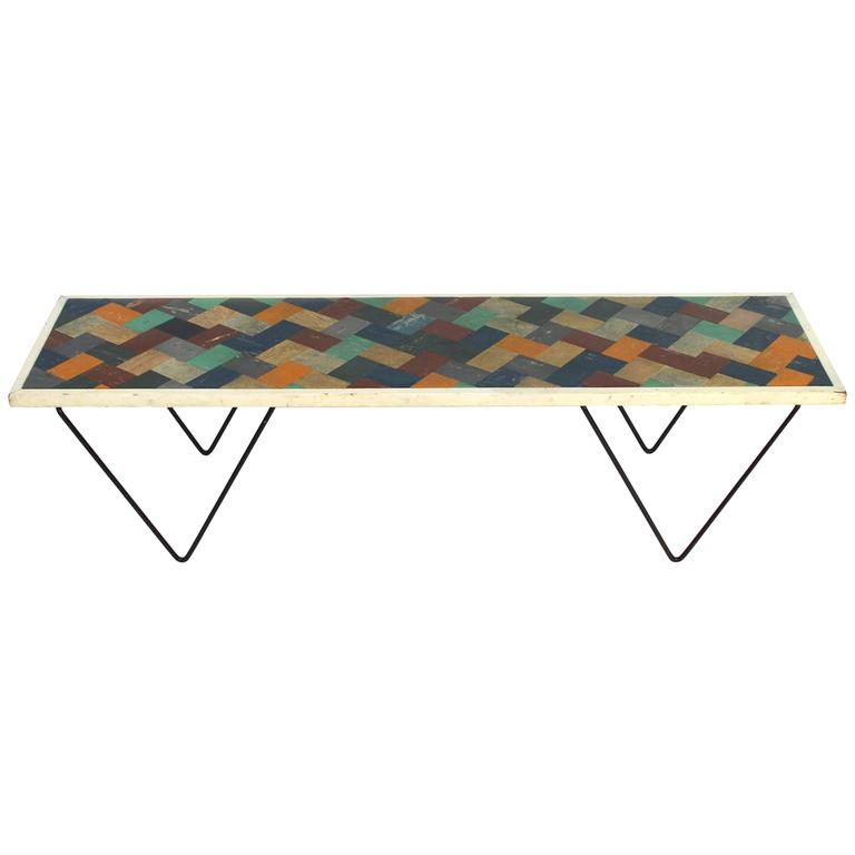 1950s Coffee Table with Mozaik Top