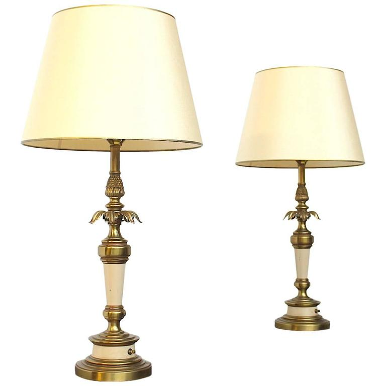 Pair of Stiffel, USA Hollywood Regency Signed Table or Buffet Lamps