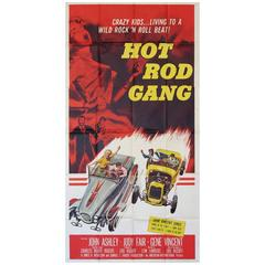 """Hot Rod Gang"" Film Poster, 1958"