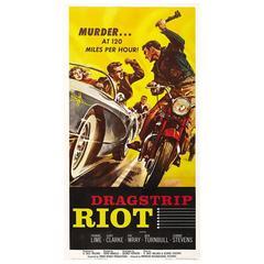 """Dragstrip Riot"" Film Poster, 1958"