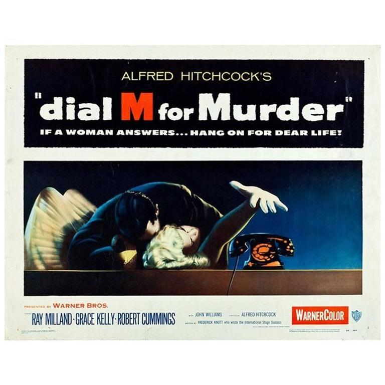 Dial M For Murder 1954 Movie Poster Framed