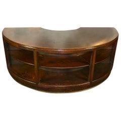 Antique Half Round Wooden Executive Desk
