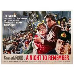 """""""A Night To Remember"""" Film Poster, 1958"""