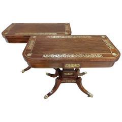 Fine Pair Regency Card Tables