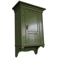 Rare Hand-Painted Jugendstil Wall Cabinet by Hollandia Pander & Zonen The Hague