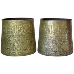 Large Pair of Oriental Copper Pots, circa 1930s