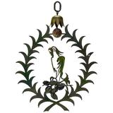 """Large Painted Iron """"Parrot"""" Sign, France, Early 20th Century"""