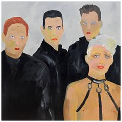 'Depeche Mode' 1980s Portrait Painting by Alan Fears Pop Art Music