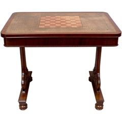 George IV Mahogany Chess Table