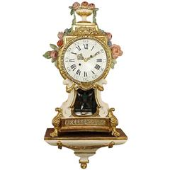 Large Late 18th Century Prussian Painted and Parcel-Gilt Sonnerie Bracket Clock