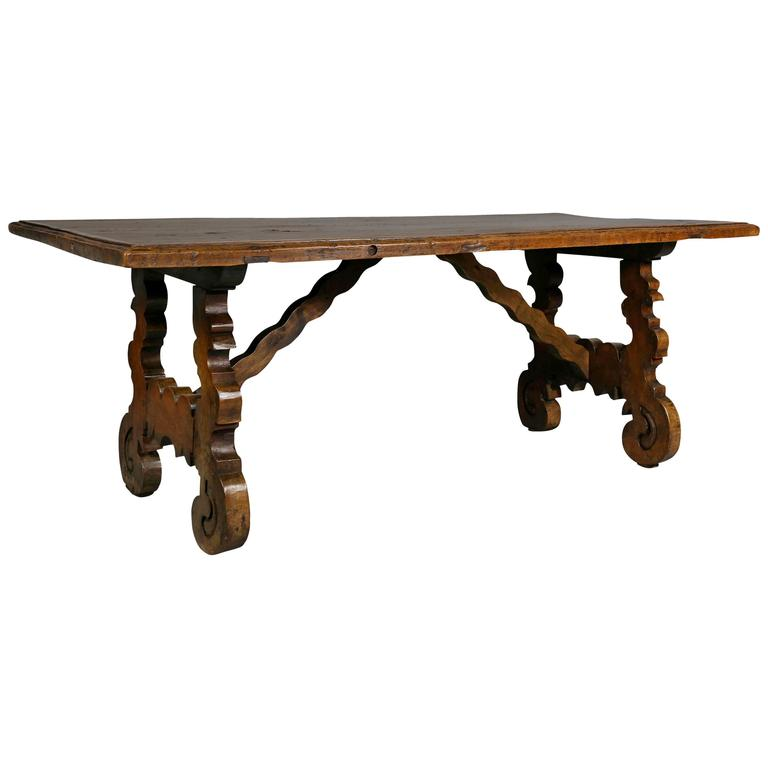Spanish Colonial Style Walnut Coffee Table For Sale At 1stdibs