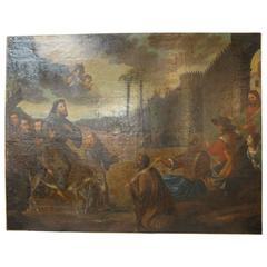 Monumental Spanish 17th Century Painting of Saint Francis